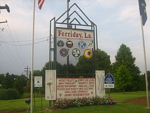 Ferriday, Louisiana - Image: Ferriday, LA sign IMG 1191