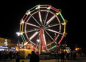 Ferris wheel at a fair in Yate, Bristol, England