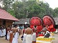 Festival in Aanakkeel temple.JPG