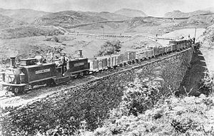 Porthmadog - The Ffestiniog Railway, opened in 1836, was built to transport slate from Ffestiniog to the new port at Porthmadog.