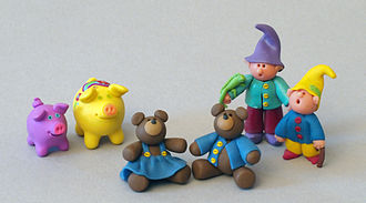 Polymer clay - Figurines made from polymer clay.
