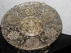 Filigree - Sterling dish, filigree work