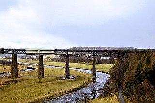Findhorn Viaduct (Tomatin) Bridge in the Scottish Highlands