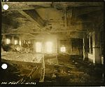 Fire-damaged interior with books reduced to ashes, Hiroshima University of Literature and Science - 1.jpg