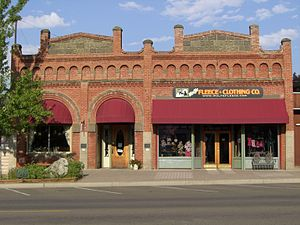 National Register of Historic Places listings in Wallowa County, Oregon - Image: First National Bank of Joseph, Oregon, 2010