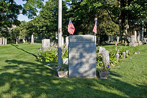 East Norwalk - The First Settlers Monument in the East Norwalk Historical Cemetery