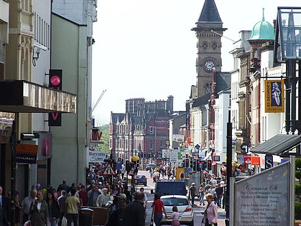 Fishergate, Preston's main shopping district Fishergate, weekday afternoon - geograph.org.uk - 1710853.jpg