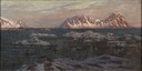 Fishing Harbour with Sunlit Mountains. Study from North Norway (Anna Boberg) - Nationalmuseum - 21352.tif