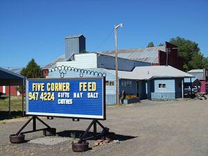Five Corners, Oregon - Feed store at Five Corners