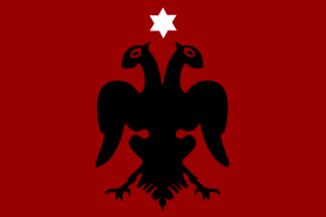 Ohrid–Debar uprising - Image: Flag of the prizren league government