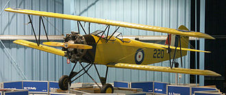 Fleet Fawn - Fleet Fawn Mk II on display at the Reynolds-Alberta Aviation Museum, c. 2006, with Fleet Finch  main landing gear fitted