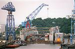 Floating dry dock AFDM-5 at US Fleet Acivities Yokosuka 1993.JPEG