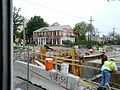 Flood control construction next to St Charles streetcar New Orleans.jpg