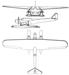 Fokker T.IV 3-view Les Ailes January 19,1928.png
