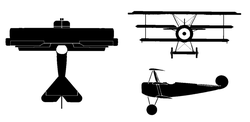 Orthographically projected diagram of the FokkeDr.1