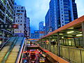 Footbridge System in Mong Kok, looking east from Mong Kok Road (Hong Kong).jpg