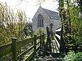 Footbridge access to the churchyard, Goldcliff - geograph.org.uk - 751683.jpg