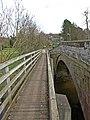 Footbridge over the Wreigh Burn, Thropton - geograph.org.uk - 780847.jpg