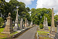 Footpath and monuments at Macclesfield Cemetery.jpg