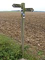 Footpath signpost on Flixton Airfield - geograph.org.uk - 2445543.jpg