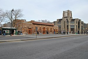 Fordham (Metro-North station) - The station building (at left) in 2013