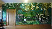Forest Mural By One Red Shoe In Private Home England 2007