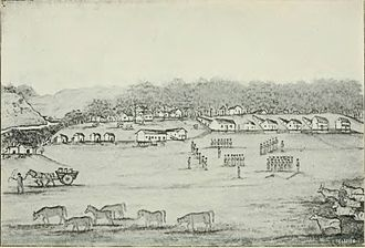 Fort Dodge, Iowa - Fort Dodge, illustrated by William Williams, 1852.