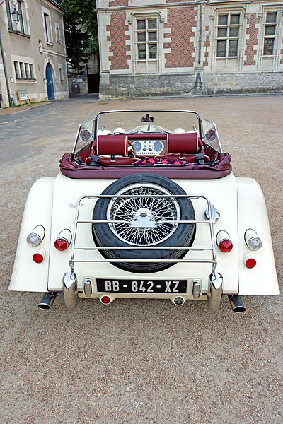 PLEASE, NO invitations or self promotions, THEY WILL BE DELETED. My photos are FREE to use, just give me credit and it would be nice if you let me know, thanks.  This beautiful Morgan car was in front of the Château.