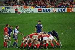 Mêlée ordonnée, France-Galles 2007
