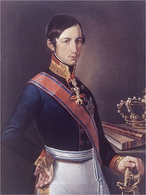 Francis V, Duke of Modena - Portrait by Luigi Manzini