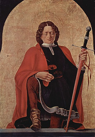 Saint Florian - Saint Florian by Francesco del Cossa, 1473