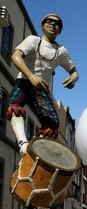 Chico Science - Chico Science statue at Recife, Brazil.