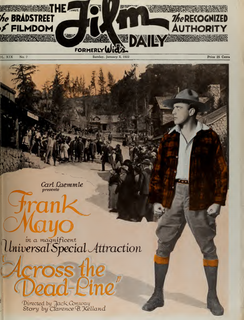 <i>Across the Dead-Line</i> 1922 film by Jack Conway