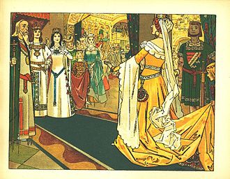 Queen (Snow White) - The Queen at Snow White's wedding in a 1905 German illustration