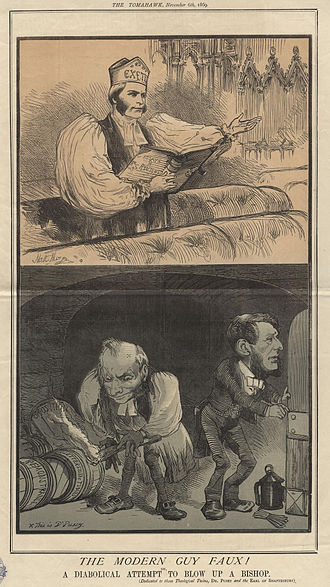 Edward Bouverie Pusey - 1869 cartoon of Frederick Temple (when Bishop of Exeter) above; Pusey and Anthony Ashley-Cooper, 7th Earl of Shaftesbury below, by Matt Somerville Morgan.