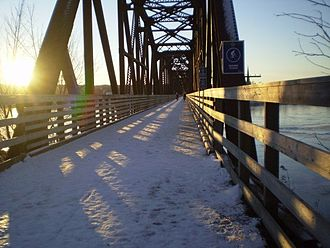 Fredericton Railway Bridge - The walking bridge in winter