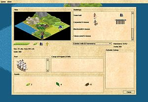 4X -  FreeCol is typical of 4X games where there is a separate interface for managing each settlement.