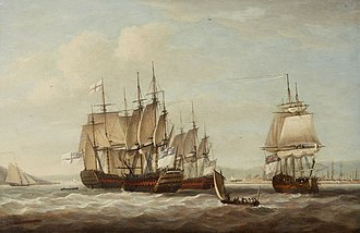 Battle of the Saintes - Captive French ships after the battle by Dominic Serres