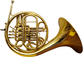 French horn back