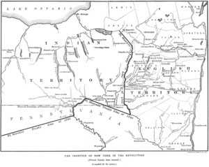Treaty of Fort Stanwix - A portion of the 1768 Fort Stanwix Treaty line, showing the boundary in New York