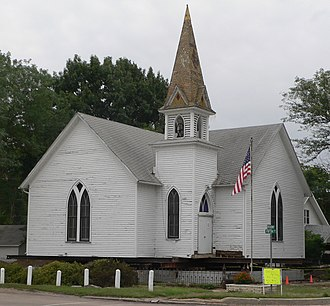 National Register of Historic Places listings in Nance County, Nebraska - Image: Fullerton Museum (EUB Church) from NW 1