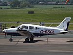 G-BSGL Piper Cherokee Warrior (27386546442).jpg