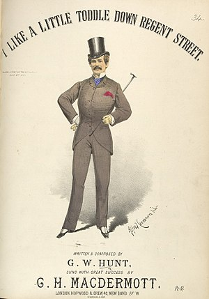 "Alfred Concanen - Image: G. H. Mac Dermott's ""I Like A Little Toddle Down Regent Street"""