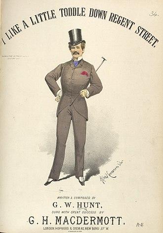 "Alfred Concanen - Image: G. H. Mac Dermott's ""I Like A Little Toddle Down Regent Street"""