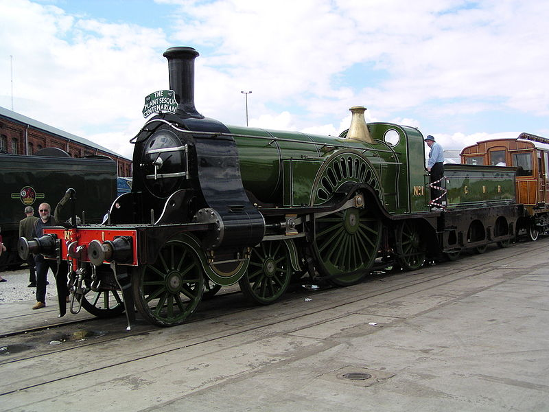 File:GNR Stirling 1 at Doncaster Works.jpg