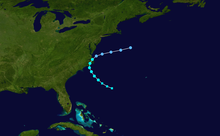 Track map of Tropical Storm.