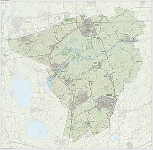 Achtkarspelen - Topographic map of Achtkarspelen, June 2015