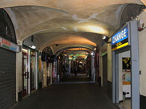 Small business - Portici di Sottoripa, Genova, Italy Galleries tend to form clusters of small business owners over time.