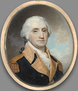 Robert Field (painter) - Miniature of George Washington by Robert Field (1800), Yale University Art Gallery