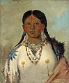 George Catlin - Tís-se-wóo-na-tís, She Who Bathes Her Knees, Wife of the Chief - 1985.66.144 - Smithsonian American Art Museum.jpg